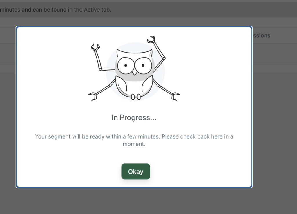 Creating a segment in Push Owl